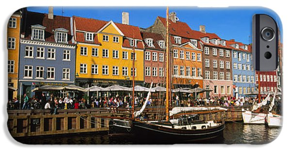 Window Of Life iPhone Cases - Buildings On The Waterfront, Nyhavn iPhone Case by Panoramic Images