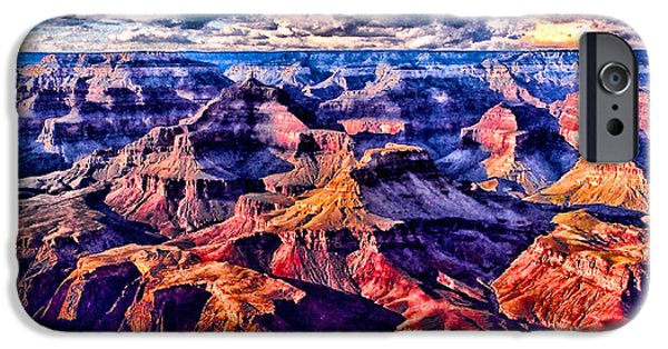 Grand Canyon Mixed Media iPhone Cases - Built by God iPhone Case by Chas Burnam