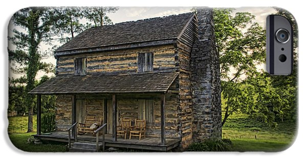 Log Cabin Photographs iPhone Cases - Built to Last iPhone Case by Heather Applegate
