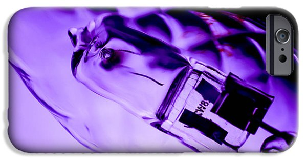 Electrical Equipment iPhone Cases - Bulb in close-up iPhone Case by Toppart Sweden