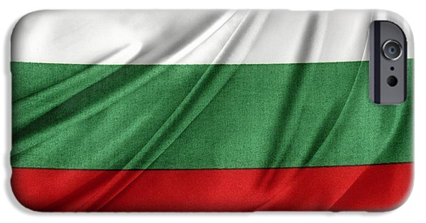 Patriotism iPhone Cases - Bulgarian flag iPhone Case by Les Cunliffe