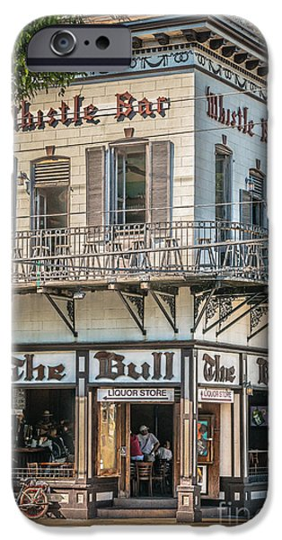 Liberal iPhone Cases - Bull and Whistle Key West - HDR Style iPhone Case by Ian Monk