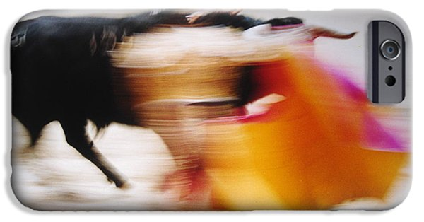 The Horse iPhone Cases - Bullfight  4 iPhone Case by Daniel Gomez