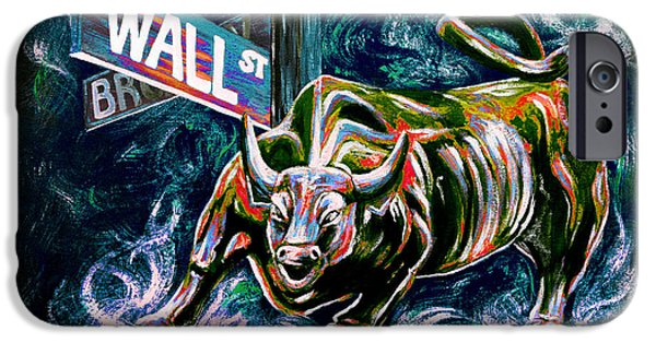 Analyst iPhone Cases - Bull Market Night iPhone Case by Teshia Art