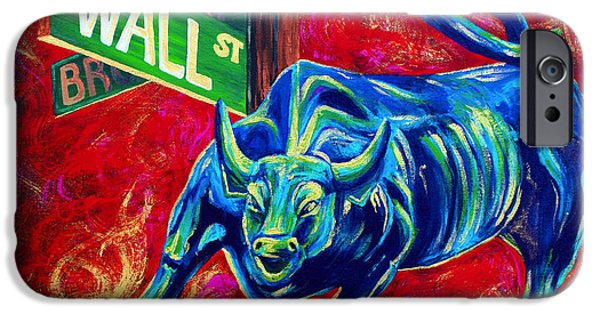 Finance iPhone Cases - Bull Market iPhone Case by Teshia Art