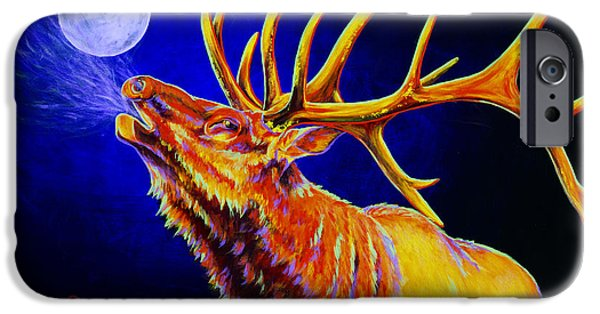 Hunter iPhone Cases - Bull Moon iPhone Case by Teshia Art