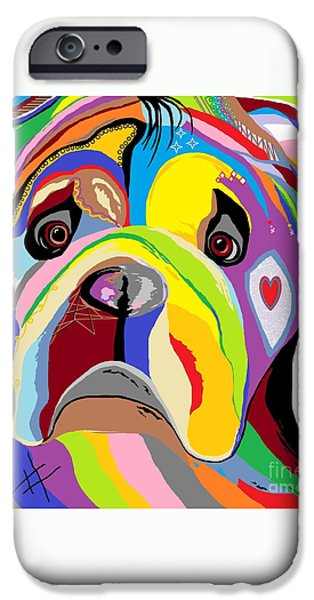 Bulldog iPhone Case by Eloise Schneider