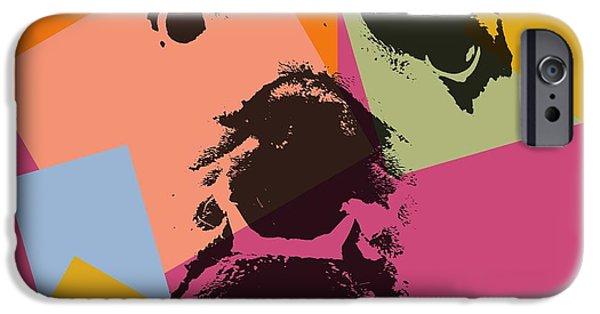Puppy Digital iPhone Cases - Bulldog Pop Art iPhone Case by Dan Sproul