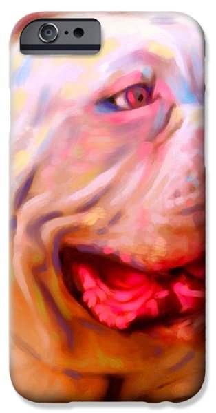 Bulldog Portrait iPhone Case by Iain McDonald