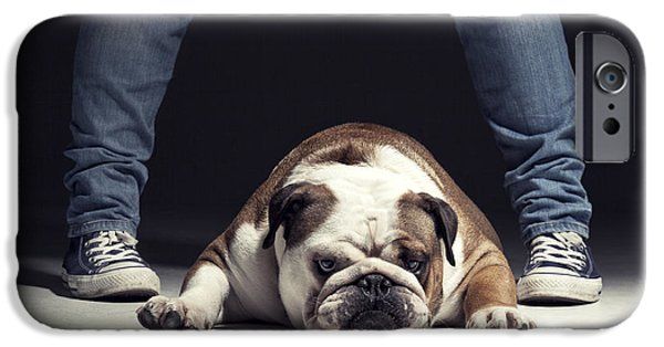 Owner Photographs iPhone Cases - Bulldog iPhone Case by Samuel Whitton