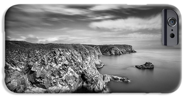 Headland iPhone Cases - Bullers of Buchan Cliffs iPhone Case by Dave Bowman