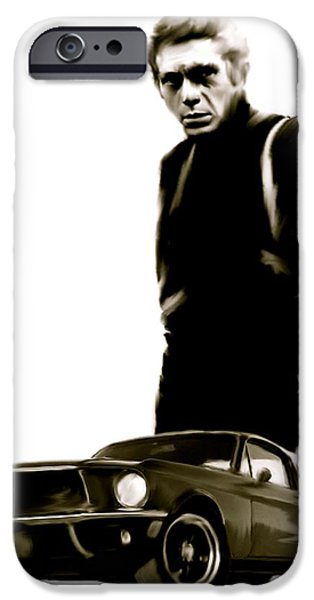 Steve Mcqueen iPhone Cases - Bullet Cool  Steve McQueen iPhone Case by Iconic Images Art Gallery David Pucciarelli