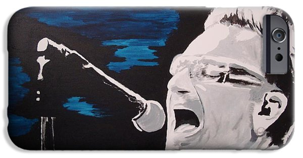 U2 Paintings iPhone Cases - Bullet The Blue iPhone Case by Stuart Engel