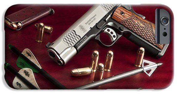 Smoking iPhone Cases - Bullets and Broadheads iPhone Case by Tom Mc Nemar