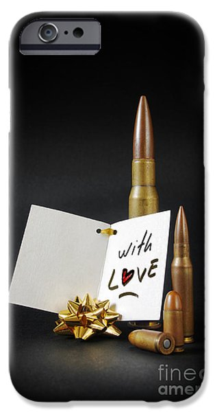 Menacing iPhone Cases - Bullets For You iPhone Case by Carlos Caetano