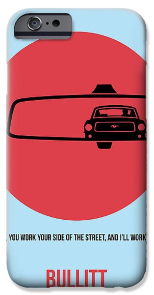 Steve Mcqueen iPhone Cases - Bullitt Poster 1 iPhone Case by Naxart Studio