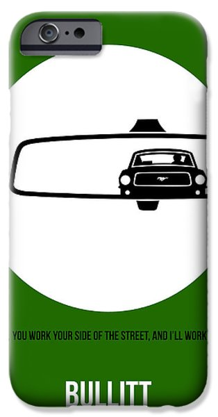 Steve Mcqueen iPhone Cases - Bullitt Poster 2 iPhone Case by Naxart Studio
