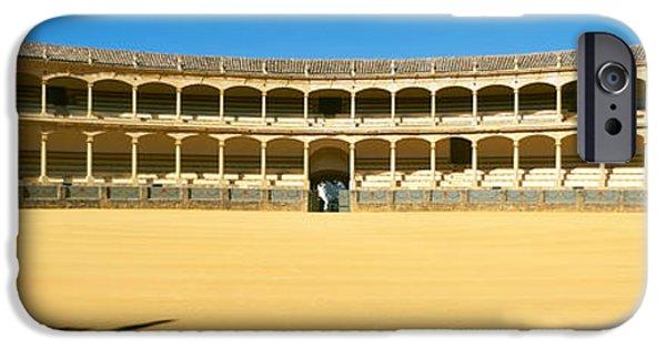 Malaga iPhone Cases - Bullring, Plaza De Toros, Ronda iPhone Case by Panoramic Images