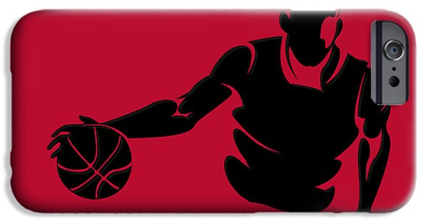 Chicago Bulls iPhone Cases - Bulls Shadow Player1 iPhone Case by Joe Hamilton