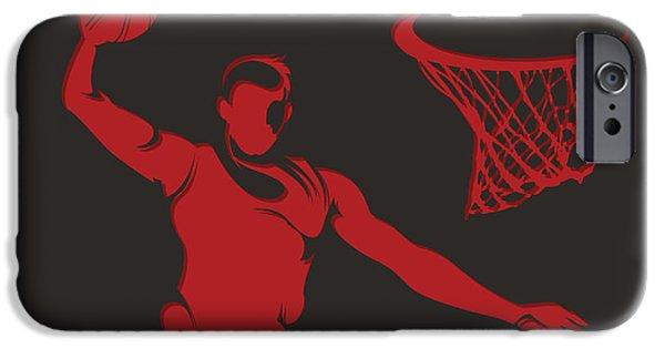 Chicago Bulls iPhone Cases - Bulls Shadow Player2 iPhone Case by Joe Hamilton
