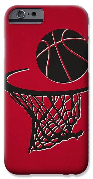 Chicago Bulls iPhone Cases - Bulls Team Hoop2 iPhone Case by Joe Hamilton