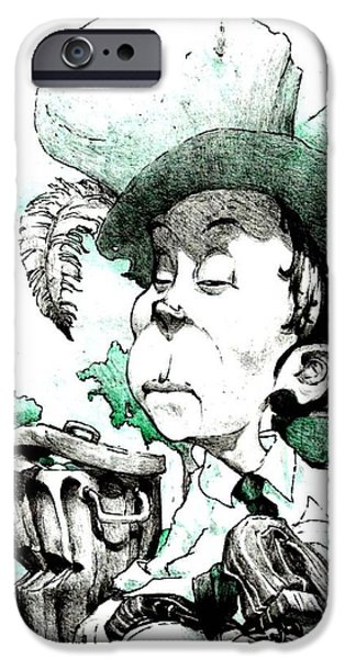 Mad Hatter iPhone Cases - Bum iPhone Case by Libo Mahlati