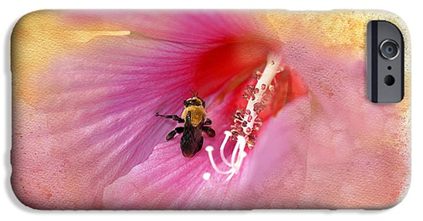 Althea iPhone Cases - Bumble Bee Bliss iPhone Case by Betty LaRue