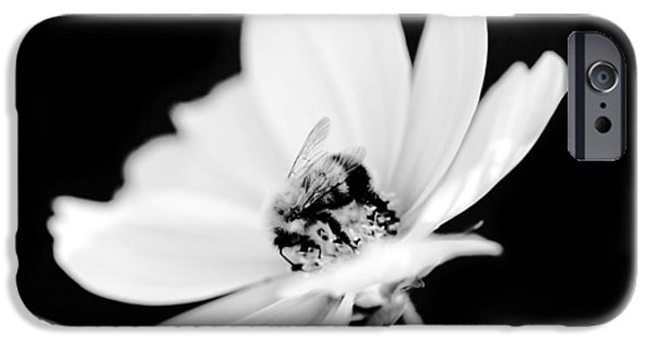 Flora Mixed Media iPhone Cases - Bumblebee collect pollen  iPhone Case by Toppart Sweden