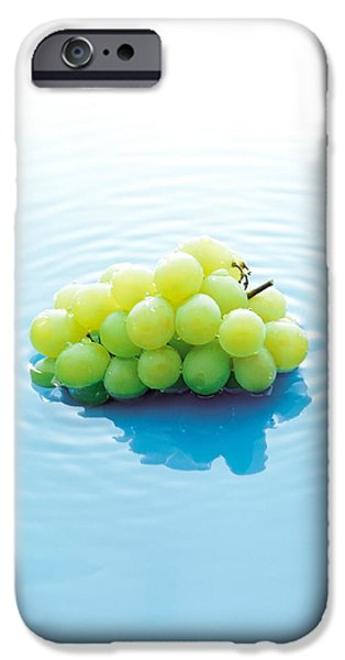Cut-outs iPhone Cases - Bunch Of Grapes Floating On Water iPhone Case by Panoramic Images