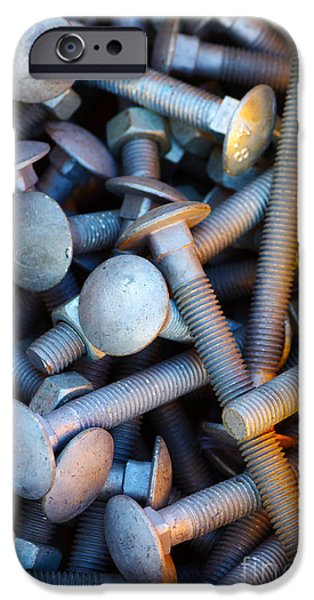 Component iPhone Cases - Bunch of Screws iPhone Case by Carlos Caetano