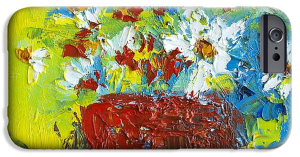 Loose Style Paintings iPhone Cases - Bunch of Wild Flowers iPhone Case by Patricia Awapara