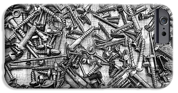Components iPhone Cases - Bunch Screws 2 - Digital effect iPhone Case by Debbie Portwood