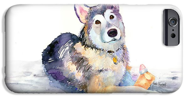 Best Sellers -  - Husky iPhone Cases - Bundle of Joy iPhone Case by Renee Chastant