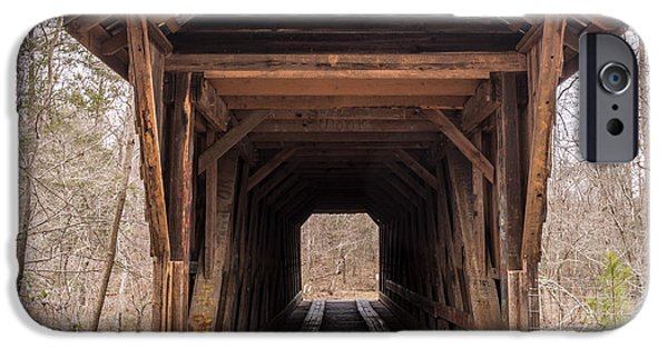 Covered Bridge iPhone Cases - Bunker Hill Covered Bridge 1 iPhone Case by Randy Scherkenbach