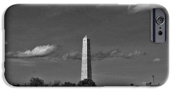 Prescott Photographs iPhone Cases - Bunker Hill Monument 4 iPhone Case by Joann Vitali