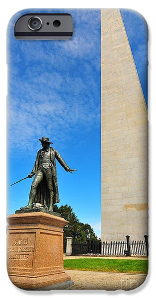 Catherine Reusch Daley iPhone Cases - Bunker Hill Monument iPhone Case by Catherine Reusch  Daley