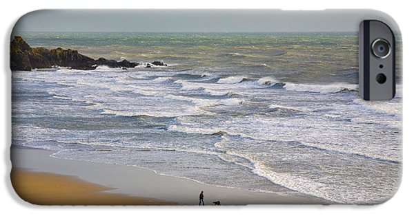 Pet Photography iPhone Cases - Bunmahon Strand, The Copper Coast iPhone Case by Panoramic Images