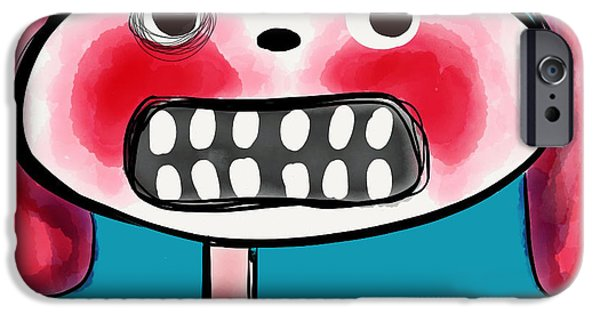 Scary Digital Art iPhone Cases - Bunnibuns iPhone Case by Kelly Jade King