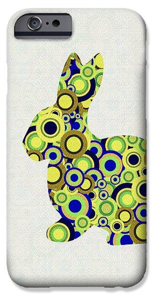Girl iPhone Cases - Bunny - Animal Art iPhone Case by Anastasiya Malakhova