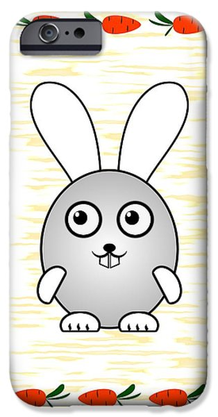 Small iPhone Cases - Bunny - Animals - Art for Kids iPhone Case by Anastasiya Malakhova