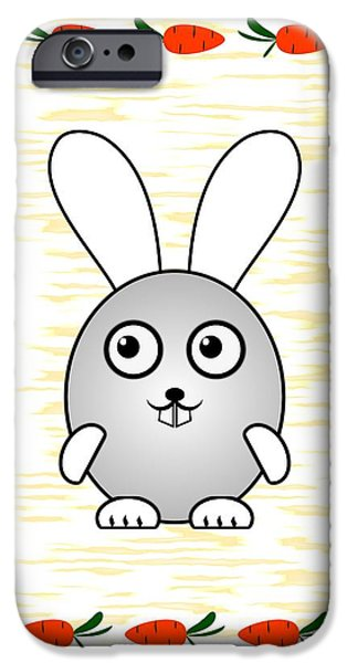 Series iPhone Cases - Bunny - Animals - Art for Kids iPhone Case by Anastasiya Malakhova