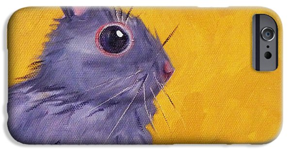 Small iPhone Cases - Bunny iPhone Case by Nancy Merkle