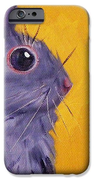 Bunny iPhone Case by Nancy Merkle