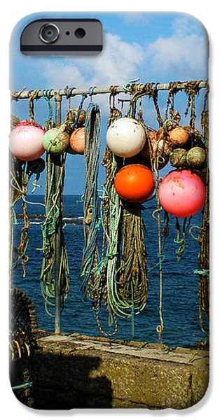 Buoys and Pots in Sennen Cove iPhone Case by Terri  Waters