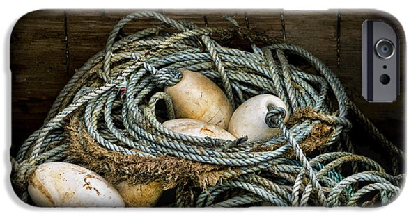 Carol Leigh iPhone Cases - Buoys in a Box iPhone Case by Carol Leigh