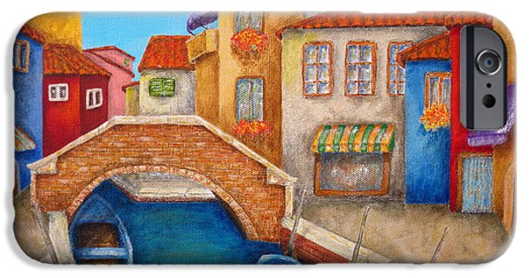 Venetian Canals iPhone Cases - Burano iPhone Case by Pamela Allegretto