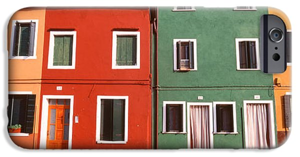 Facade iPhone Cases - Burano, Venice, Italy iPhone Case by Panoramic Images