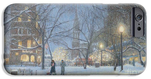 Recently Sold -  - Night Lamp iPhone Cases - Burberrys and the Ritz iPhone Case by Candace Lovely