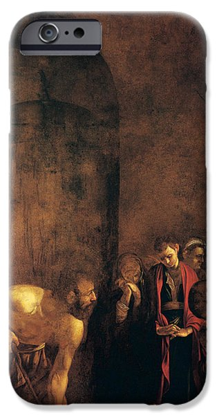 Caravaggio iPhone Cases - Burial of St Lucy iPhone Case by Caravaggio