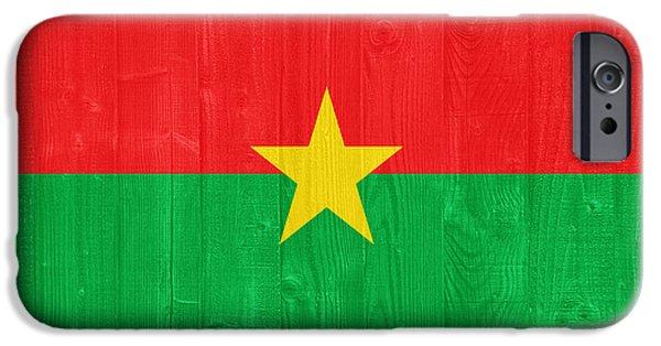Stripes iPhone Cases - Burkina Faso flag iPhone Case by Luis Alvarenga